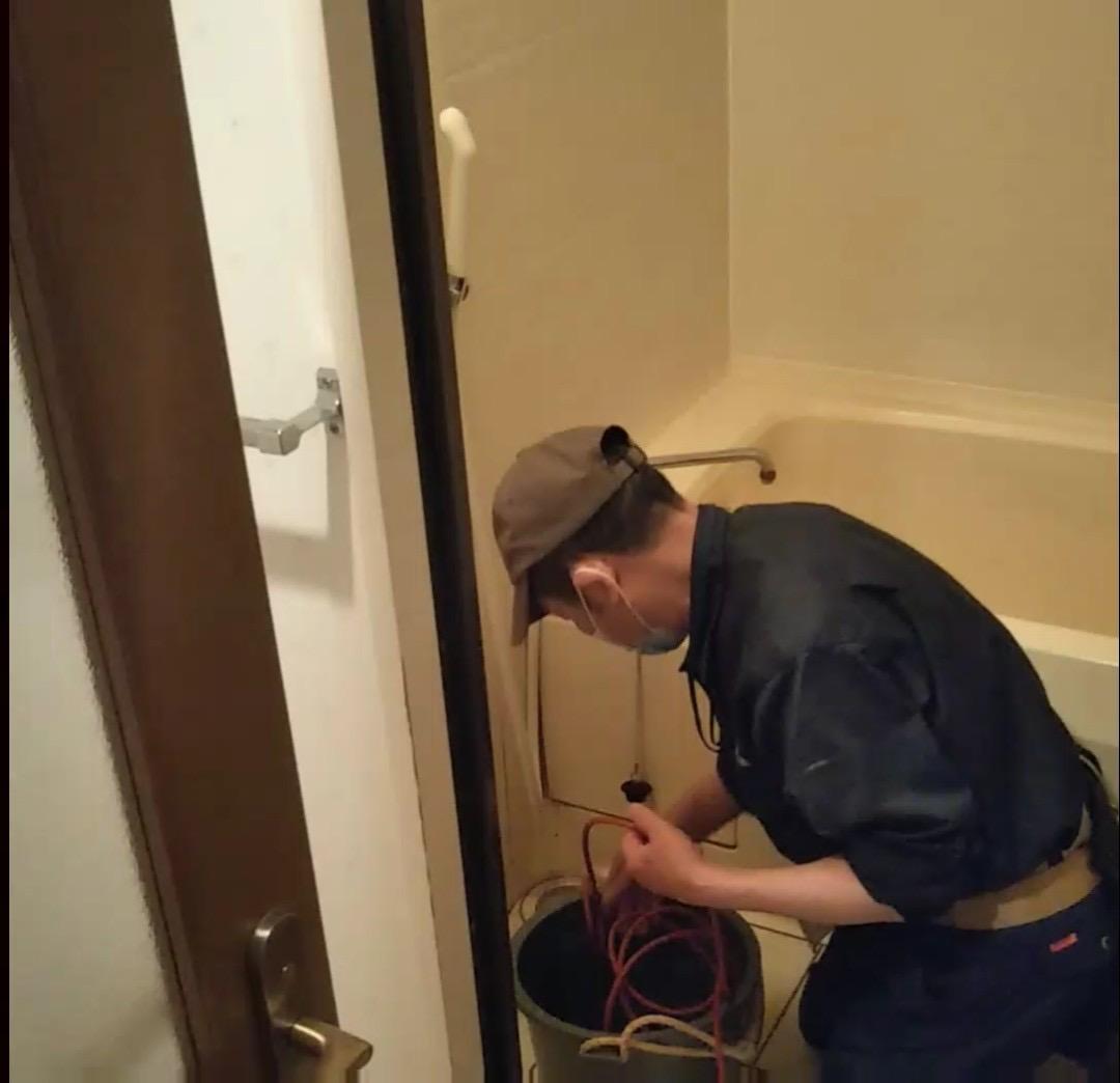 浴室排水口清掃